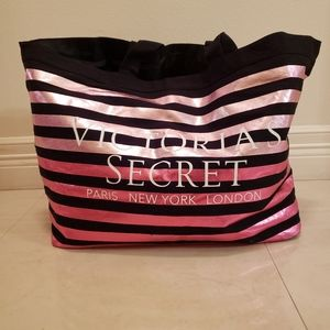 VS Striped Runway Tote